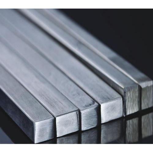 Barre de barre carrée en acier inoxydable Barre de profil carré pleine matière V2A,  acier inoxydable