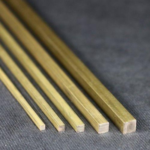 Tige carrée Ø10x10mm - 15x15mm laiton 2.0401 tige carrée Ms58 carrée Ms solide,  Laiton