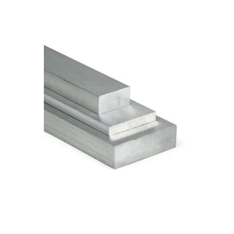 Barre plate en aluminium 15x10mm-100x15mm AlMgSi0.5 matériel plat profilé en aluminium fer plat,  aluminium