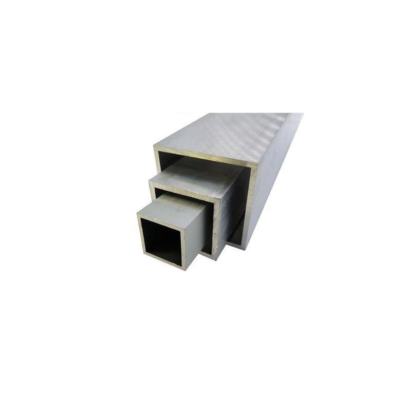 Tube carré en aluminium 20x20x2-100x100x4mm AlMgSi0.5 tube carré 0,2-2 mètres