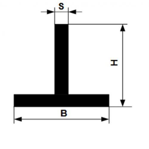 Angle profilé en T en aluminium isocèle 40x40x5mm alu 0,25-2 mètres