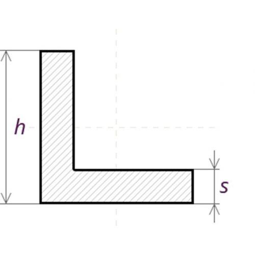 Angle de profil en L en acier inoxydable isocèle 40x40x4mm-60x60x6mm 0,25-2 Met