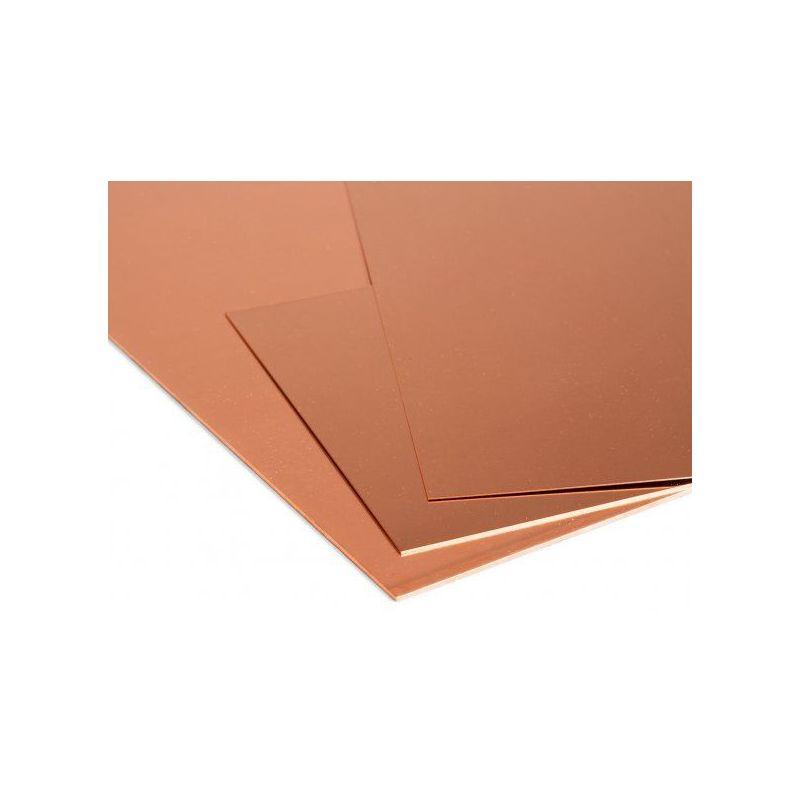 Feuille de cuivre Plaques de 0,5 mm à 1 mm Feuille de Cu feuille mince sélectionnable de 100 mm à 1000 mm
