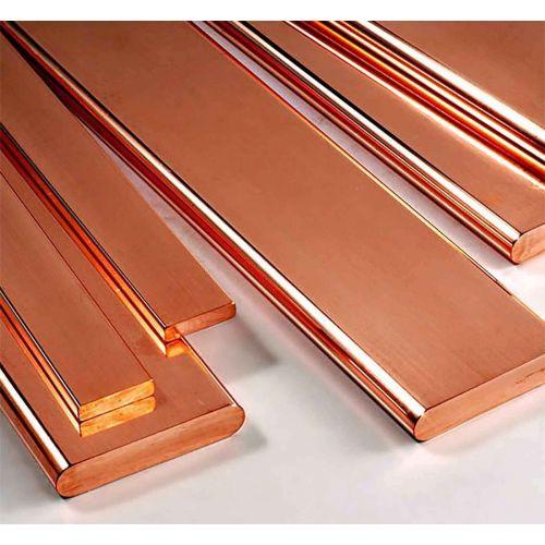 Barres plates en cuivre 30x2mm-90x10mm bandes de tôle coupées à 0,5 à 2 mètres