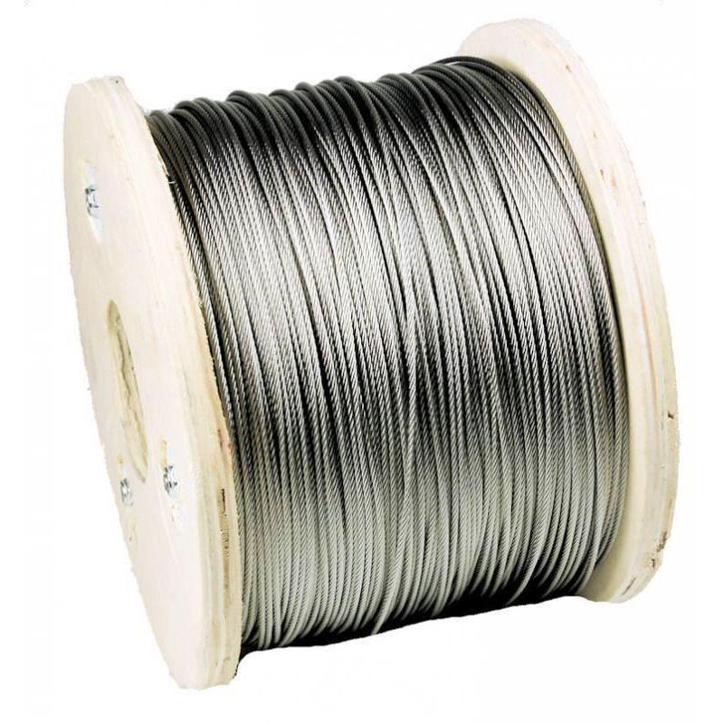1-200 mètres de câble métallique en acier inoxydable Câble en acier inoxydable Ø3mm,  acier inoxydable